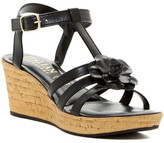 Italian Shoemakers Strappy Floral Wedge Sandal
