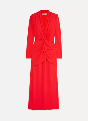 Diane von Furstenberg Stacia Knot-detail Crepe Maxi Dress - Red