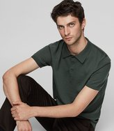 Reiss Manor - Knitted Polo Shirt in Green, Mens