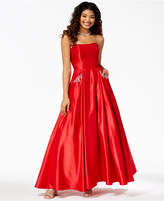 Blondie Nites Juniors' Embellished Strapless Gown
