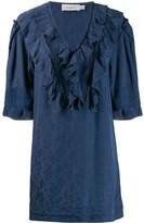 Coach Floral Print Ruffle Dress