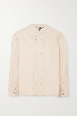 Isabel Marant Espera Oversized Double-breasted Cotton Jacket - Ecru