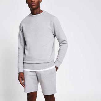 River Island Grey marl long sleeve sweatshirt