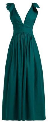 Kalita Persephone Linen Maxi Dress - Womens - Green