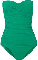 Heidi Klein Key West Ruched Bandeau Swimsuit - Jade
