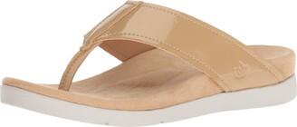 Spenco Women's Hampton Sandal Flip-Flop tan 6 Medium US