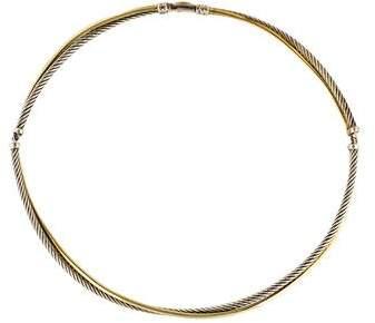 David Yurman Two-Tone Crossover Collar Necklace