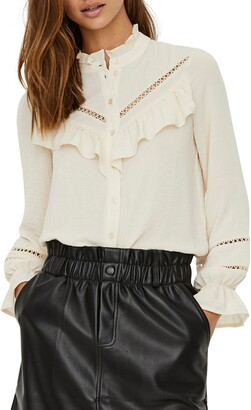 Vero Moda Zigga Ruffle Shirt