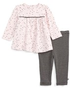 Offspring Infant Girl's Delicate Blush Tunic & Leggings Set