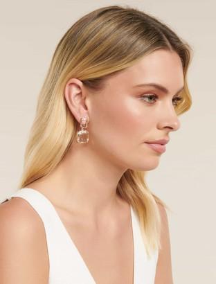 Ever New Liv Clear Crystal Mini Drop Earrings