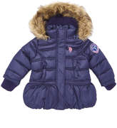 U.S. Polo Assn. Navy Peplum Puffer Jacket - Toddler & Girls