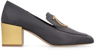 Salvatore Ferragamo High Heel Leather Loafers