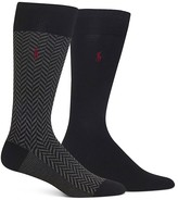 Polo Ralph Lauren Herringbone & Solid Trouser Socks - Pack of 2