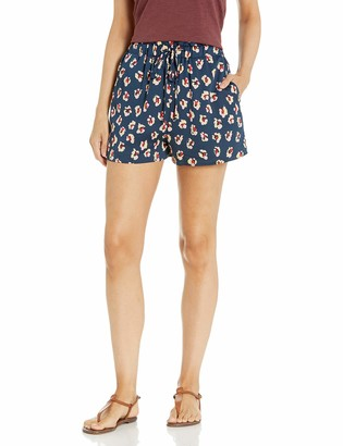 BCBGeneration Women's Printed Paperbag Waist Shorts