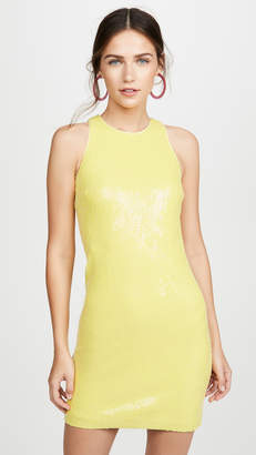 Halston Sleeveless Sequin Dress