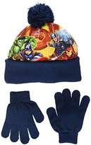 Marvel Boy's Avengers Fighting Position Scarf, Hat and Glove Set