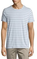Vince Shadow-Striped Short-Sleeve Crewneck Tee, Lucent Blue