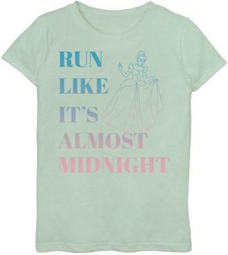 Disney Disney's Cinderella Girls 7-16 Run Like Midnight Ombre Graphic Tee