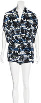 L'Agence Abstract Print Surplice Romper