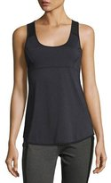 Blanc Noir Mesh Back Tank Top, Gray