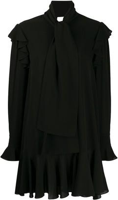 Alexander McQueen draped long-sleeved pleated dress