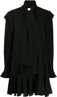 Alexander McQueen Draped Long-Sleeved Pleated Dress