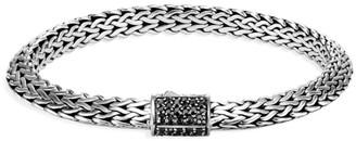 John Hardy Chain Classic Sterling Silver & Black Sapphire Tiga Chain Bracelet