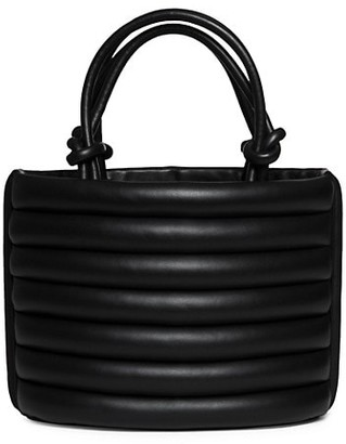 STAUD Louie Quilted Leather Tote