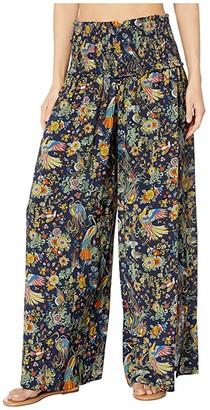 Tory Burch Swimwear Smocked Beach Pants Cover-Up (Tory Navy Promised Land) Women's Swimwear