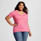 Mossimo Women's Plus Size Short Sleeve Vee Tee Juniors')