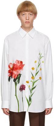 Valentino White Inez and Vinoodh Edition Poplin Floral Shirt