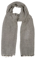 Etoile Isabel Marant Ascah hound's-tooth wool scarf