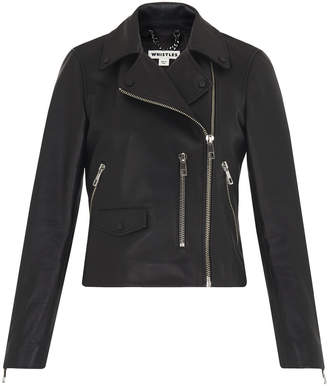 Whistles Agnes Leather Biker