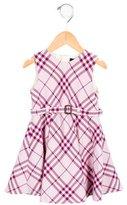 Burberry Girls' Nova Check Wool-Blend Dress