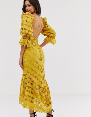 ASOS EDITION broderie milkmaid dress