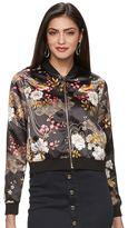 JLO by Jennifer Lopez Women's Floral Sequin Bomber Jacket