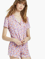 Lucky Brand Notch Collar Shorty Pj