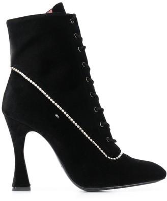 Les Petits Joueurs Lace-Up Ankle Boots