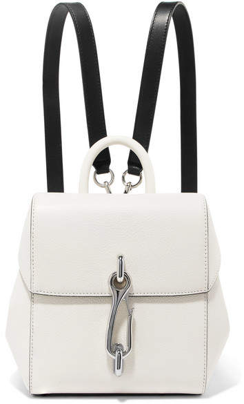 Alexander Wang Hook Mini Smooth And Textured-leather Backpack