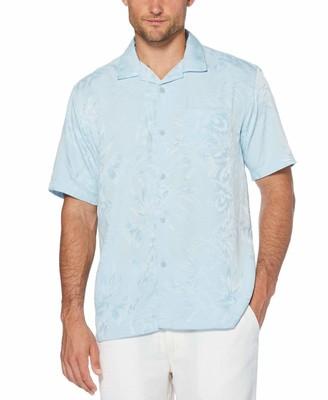 Cubavera Two Tone Camp Collar Floral Shirt