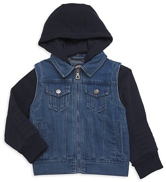 Urban Republic Little Boy's Boy's Denim Vest Hoodie Combo