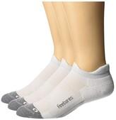 Feetures Elite Max Cushion No Show Tab 3-Pair Pack (White) No Show Socks Shoes