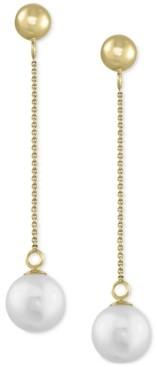 Effy Cultured Freshwater Pearl (7mm) Drop Earrings in 14k Gold