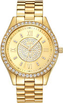 JBW Mondrian Womens Diamond-Accent Gold-Tone Stainless Steel Bracelet Watch J6303B
