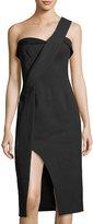 Keepsake Platinum One-Shoulder Dress