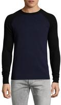 Diesel Black Gold Kippio-Scuba Wool Colorblock Sweater