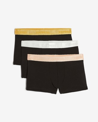 Express 3 Pack Metallic Waistband Sport Trunks