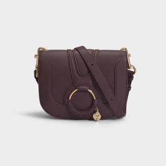 See by Chloe Hana Shoulder Bag In Burgundy Grained Goatskin