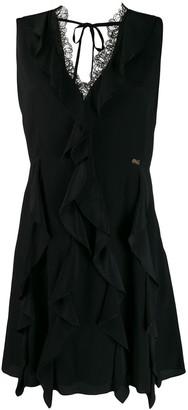 Class Roberto Cavalli ruffled mini dress