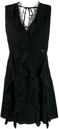 Class Roberto Cavalli Ruffled Mini Dress